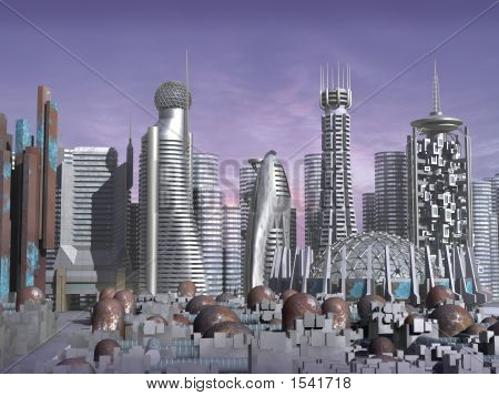 poster of 3D Model Of Sci-Fi City