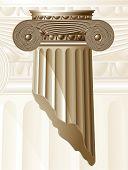 Ancient Column. Vector.