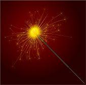 Party sparkler. Vector.