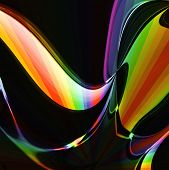 Liquid Rainbow Abstract Design Background