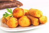 Filled fried balls