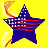 Vector Patriotic Star And Stripes Background