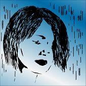 Vector Blue Girl