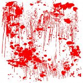 Vector Red Splatter Grunge