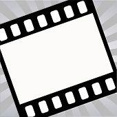 Vector Film Strip On Starburst