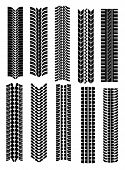 Vector version. Set of tire shapes isolated on white for design. Jpeg version is also available