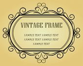Vector version. Vintage frame in victorian style for design as a background. Jpeg version also avail