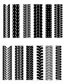 picture of street-rod  - Set of tire shapes - JPG