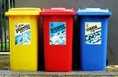 picture of recycling bins  - Recycle - JPG