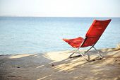 On the beach, chair for resting