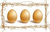 Gold Eggs In The Nest Frame