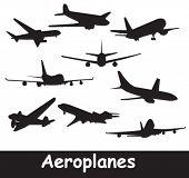 Flugzeug-Silhouetten