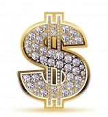 dollar with diamonds