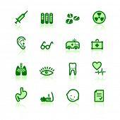 ícones da medicina verde