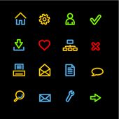 neon basic web icons