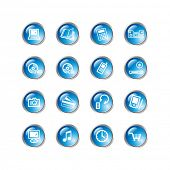 blue drop electronics icons