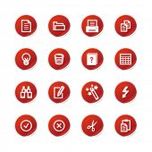 red sticker document icons
