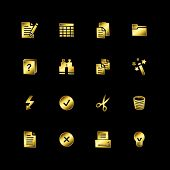 Gold Dokument-icons