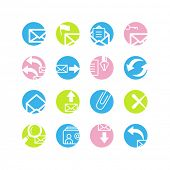 spring circle e-mail icons
