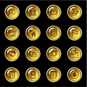 Gold drop building icons