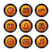 Organizer icons, orange circle series