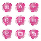 Organizer icons, pink flower series