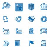 Building web icons, blue series