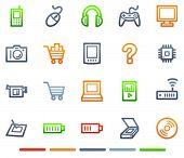 Electronics web icons, colour symbols series