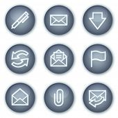 E-mail web icons, mineral circle buttons series