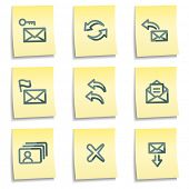 E-mail icons set 1, yellow notes series