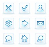 Basic web icons, white square buttons