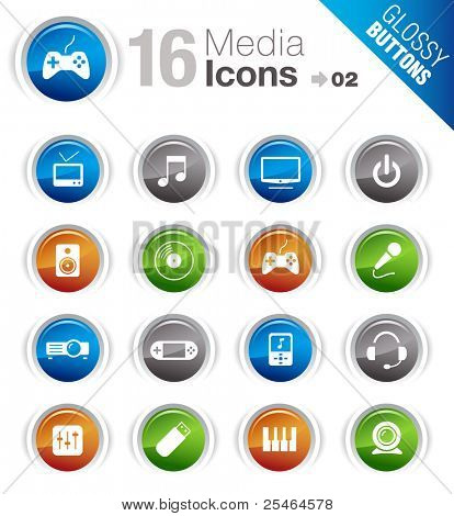 poster of Glossy Buttons - Media Icons