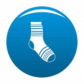 Boy Sock Icon. Simple Illustration Of Boy Sock Icon For Any Design Blue poster