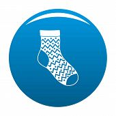 Ornament Sock Icon. Simple Illustration Of Ornament Sock Icon For Any Design Blue poster