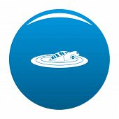 Sinking Car Icon. Simple Illustration Of Sinking Car Icon For Any Design Blue poster