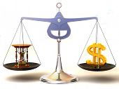 equilíbrio de tempo e dinheiro. 3D