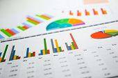 Charts Graphs Spreadsheet Paper. Financial Development, Banking Account, Statistics, Investment Anal poster