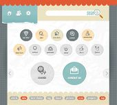 web interface paper template with simple modern icons