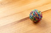 Elastic Bands Ball. Macro Photography. Object. Close Up poster