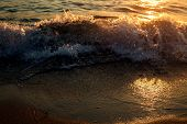 Sunset. Beautiful Sunset Black Sea. Gold Sea Sunset. Sunset Sea Waves. Summer Sunset. poster