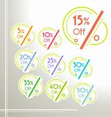 Set Of Vector Colorful Rounded Sale Stickers, Labels, Tags.  Bright Design For Stickers, Web Page Ad poster