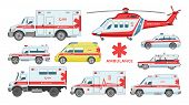 Ambulance Car Vector Emergency Ambulance-service Vehicle Or Van And Medical Care Transport In Hospit poster