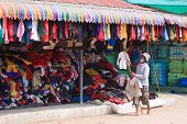 picture from Rongkleau market border Thailand - Cambodia