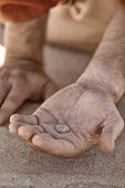 Beggar Hand With Coin