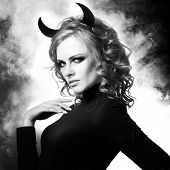 The beautiful young girl a devil
