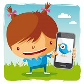 girl and mobile phone - social network