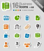 Glossy Stickers - Office and Business icons
