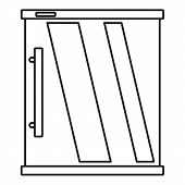 Mini Refrigerator Icon. Outline Illustration Of Mini Refrigerator Icon For Web Design Isolated On Wh poster