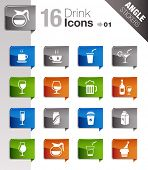 Angle Stickers - Drink Icons