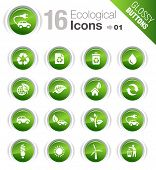 Glossy Buttons - Ecological Icons